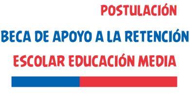 Beca de Apoyo a la Retención Escolar Educación Media