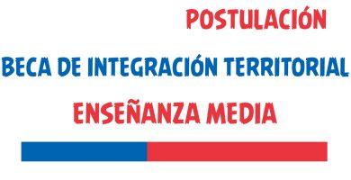 Beca de Integración Territorial Enseñanza Media