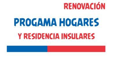 renovacion programa hogares y residencia insular