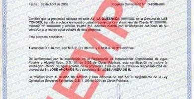 certificado factibilidad sanitaria online